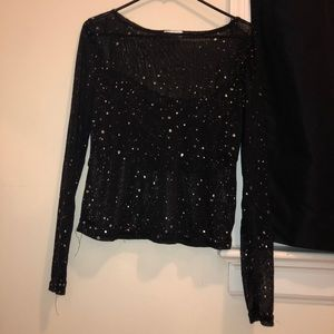Mesh Shirt with sparkles